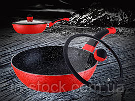 Сковорода Вок Meisterklasse MK-1036-28 red marble