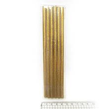 """Клей-стержень д/пістолету """"Gold"""" 18*0.7см.glitter 6шт/OPP, 0252-G"""