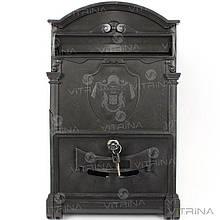 Почтовый ящик - герб Англии (черный) Пластик   VTR (Украина) PO-0003