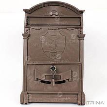 Почтовый ящик - герб льва (коричневый) Пластик   VTR (Украина) PO-0017
