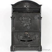 Почтовый ящик - роза (черный) Пластик   VTR (Украина) PO-0018