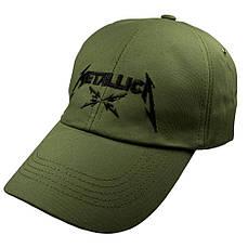 Бейсболка METALLICA Logo оливковая