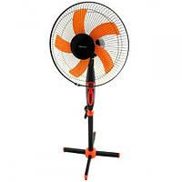 🔝 Бытовой напольный электро-вентилятор с таймером Domotec MS 1620 для дома, комнатный домашний   🎁%🚚