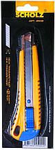 Ніж трафаретний + 2 леза 18 мм, автофіксатор, металічний, направляючі прорезинені, 4502, SOZ