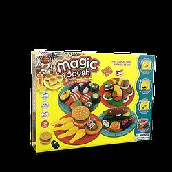 Игровой набор Magic Dough Fast Food Разноцветный hubber-258, КОД: 1160224
