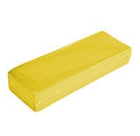 Бумага для депиляции спанбонд (7*22см) желтый100шт Panni Mlada