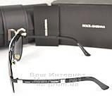 Женские солнцезащитные очки Dolce & Gabbana Авиаторы с поляризацией Стильные Модные 2020 Дольче Габбана копия, фото 6