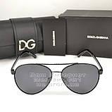 Женские солнцезащитные очки Dolce & Gabbana Авиаторы с поляризацией Стильные Модные 2020 Дольче Габбана копия, фото 7