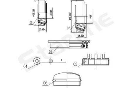 Audi 100 Подшипник ступицы колеса, к-кт.  STARLINE S LO 00542, фото 2