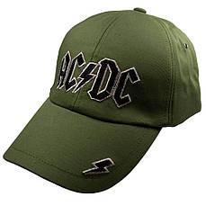 Бейсболка ACDC Logo оливковая