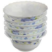 Набор посуды A-PLUS 6 пиал + 1 салатница стеклокерамика (набір посуду піали + салатниця склокераміка), фото 1