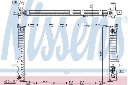 Audi 100 Радиатор AI 100(90-)2.6 i(+)[OE 4A0.121.251 K] NISSENS NIS 60476, фото 2