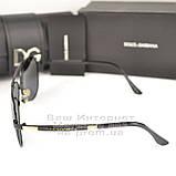 Мужские солнцезащитные очки Dolce & Gabbana Авиаторы Polarized для водителей Поляризационные Дольче реплика, фото 4