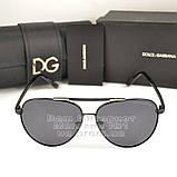 Мужские солнцезащитные очки Dolce & Gabbana Авиаторы Polarized для водителей Поляризационные Дольче реплика, фото 6