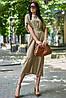 Летнее удлиненное свободное платье из штапеля с цветочным принтом (Нотти jd), фото 4