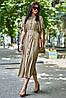 Летнее удлиненное свободное платье из штапеля с цветочным принтом (Нотти jd), фото 5