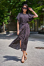 Летнее удлиненное свободное платье из штапеля с цветочным принтом (Нотти jd), фото 3