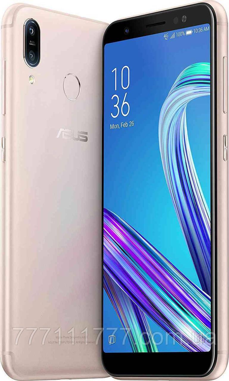 Смартфон с двойной камерой и сканером отпечатка пальца на 2 сим карты Asus ZenFone Max M1 ZB555KL 2/16Gb gold