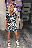 """Комбинезон-шорты женский с цветами размеры M-XL """"PULSE"""" недорого от прямого поставщика, фото 1"""