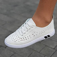 Кроссовки женские белые летние легкие (код 9681) -  кросівки білі літні легкі