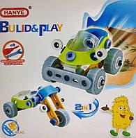 Детский конструктор 2 в 1 MECCANO CONSTRUCTION (Машинка/мотоцикл), 53 детали, фото 1