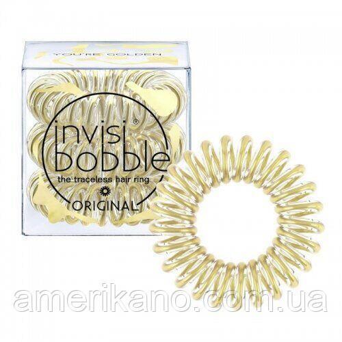 Резинка-браслет для волос Invisibobble. You're Golden Оригинал! Бренд Великобритании.