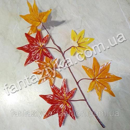 Ветка осеннего японского клена оранжевая 40см