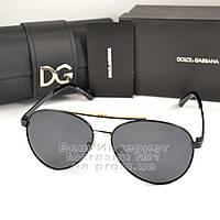 Мужские солнцезащитные очки Dolce & Gabbana Авиаторы Polarized для водителей Поляризационные Дольче реплика