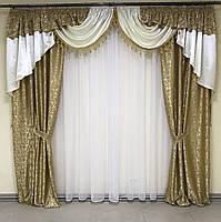 Ламбрекен в кімнату, ламбрекени зі шторами для спальні залу кухні, сучасні шикарні ламбрекени для вітальні, штори в спальню з, фото 5