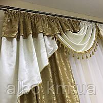 Ламбрекен в кімнату, ламбрекени зі шторами для спальні залу кухні, сучасні шикарні ламбрекени для вітальні, штори в спальню з, фото 6