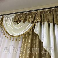Ламбрекен в кімнату, ламбрекени зі шторами для спальні залу кухні, сучасні шикарні ламбрекени для вітальні, штори в спальню з, фото 8