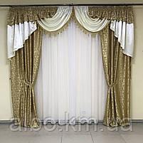 Ламбрекен в кімнату, ламбрекени зі шторами для спальні залу кухні, сучасні шикарні ламбрекени для вітальні, штори в спальню з, фото 7