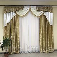 Ламбрекен в кімнату, ламбрекени зі шторами для спальні залу кухні, сучасні шикарні ламбрекени для вітальні, штори в спальню з, фото 9