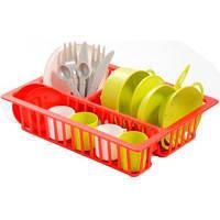 Игровой набор Ecoiffier посуды с сушкой (000606)