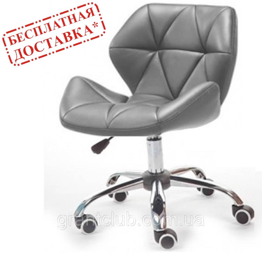Крісло на колесах Стар Нью сіре екокожа СДМ група (безкоштовна доставка)