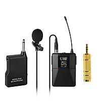Петличний бездротовий мікрофон Alitek WM-10 для комп'ютера / відеокамери / фотоапарата