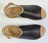 Босоножки молодежные из натуральной кожи с перфорацией от производителя модель ОШ993-4, фото 3