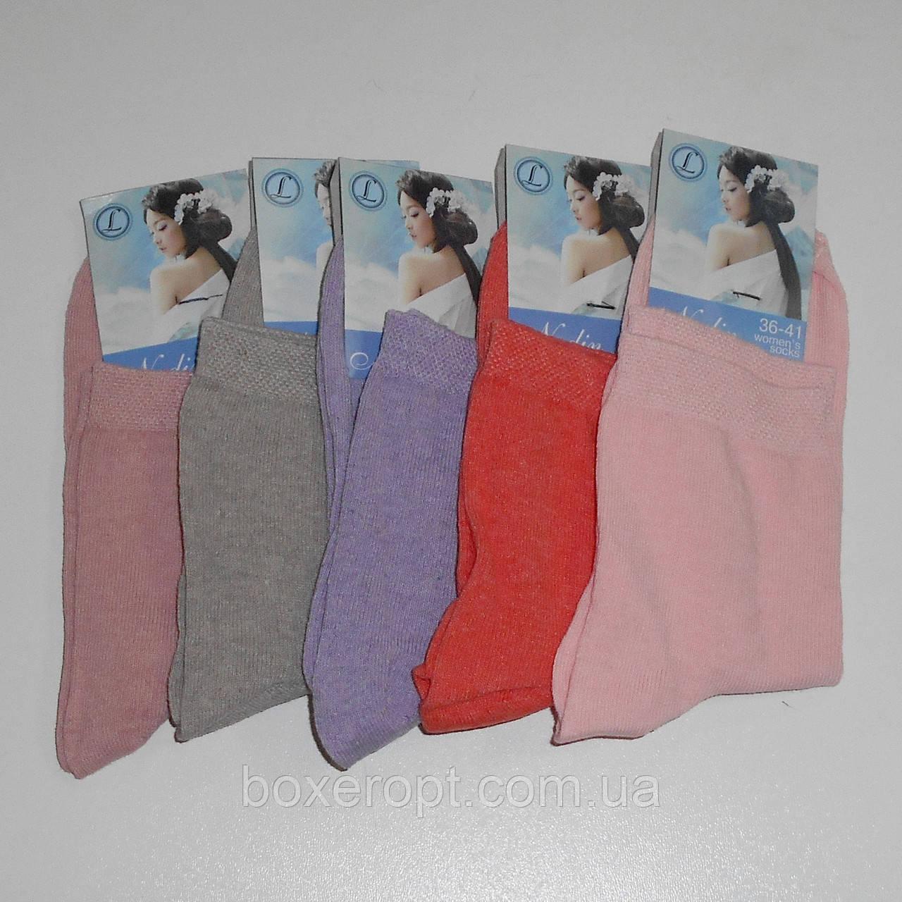 Женские носки Nadin - 6.50 грн./пара (однотонные, высокие)