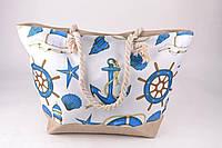 Жіноча пляжна сумка Якоря з канатними ручки, фото 1