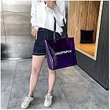 Женская большая прозрачная пляжная сумка шопер JINGPINPIJU синий голубой, фото 4