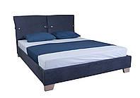 Кровать MELBI Мишель Двуспальная 120х190 см Синий KS-007-02-1син, КОД: 1670591