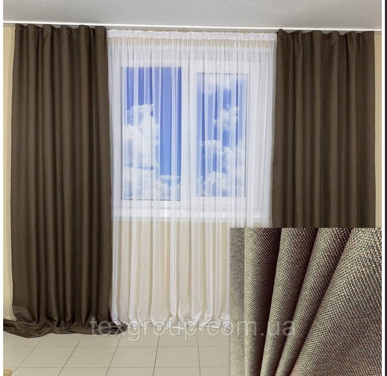 Готовые шторы Лён рогожка