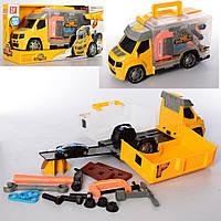 Игрушечный гараж детский со звуком и светом Bambi, желтый