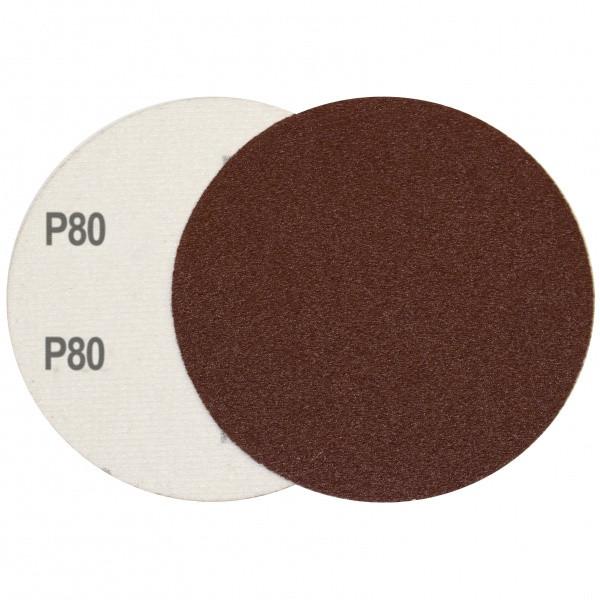 Круг шлифовальный на липучке Velcro Polystar Abrasive 125 мм, P80 комплект 10шт
