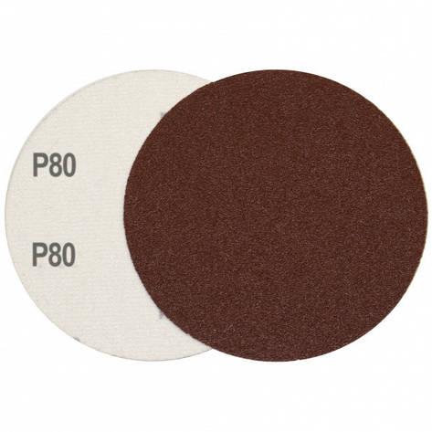 Круг шлифовальный на липучке Velcro Polystar Abrasive 125 мм, P80 комплект 10шт, фото 2