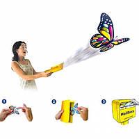 Летающая бабочка сюрприз в открытку детская игрушка