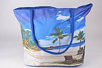 Жіноча пляжна сумка синя