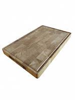 Профессиональная двусторонняя торцевая разделочная доска / кухонна торцева дошка Energy Wood 45х30х4см дуб