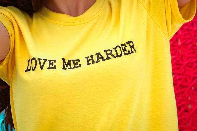 """Женский трикотажный спортивный костюм """"LOVE ME HARDER"""" с футболкой и шортами, фото 2"""