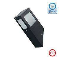 Светильник настенный HOROZ ELECTRIC KAVAK/SQ-1 E27 IP44 алюминий (черный)